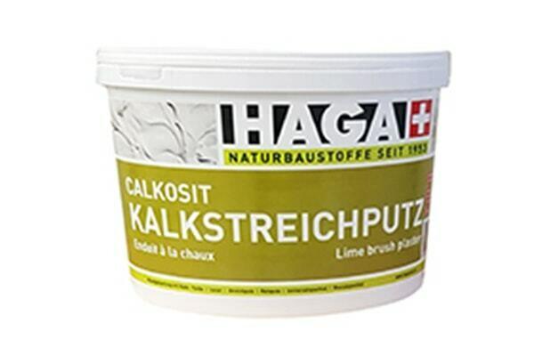HAGA Calkosit® Kalkstreichputz Konsequent ökologischer, natürlicher Streichputz mit hoher Diffusionsfähigkeit
