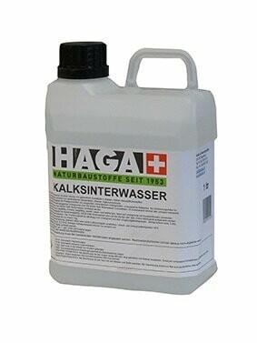 HAGA Sinterwasser / Kalksinterwasser Extrem dampfdiffusionsoffen, pilz- und schimmelwidrig, konsequent ökologisch.