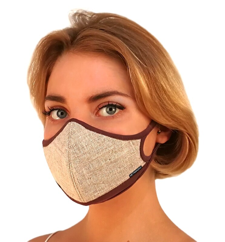 Natural Linen Face Mask Non-Replaceable Filter