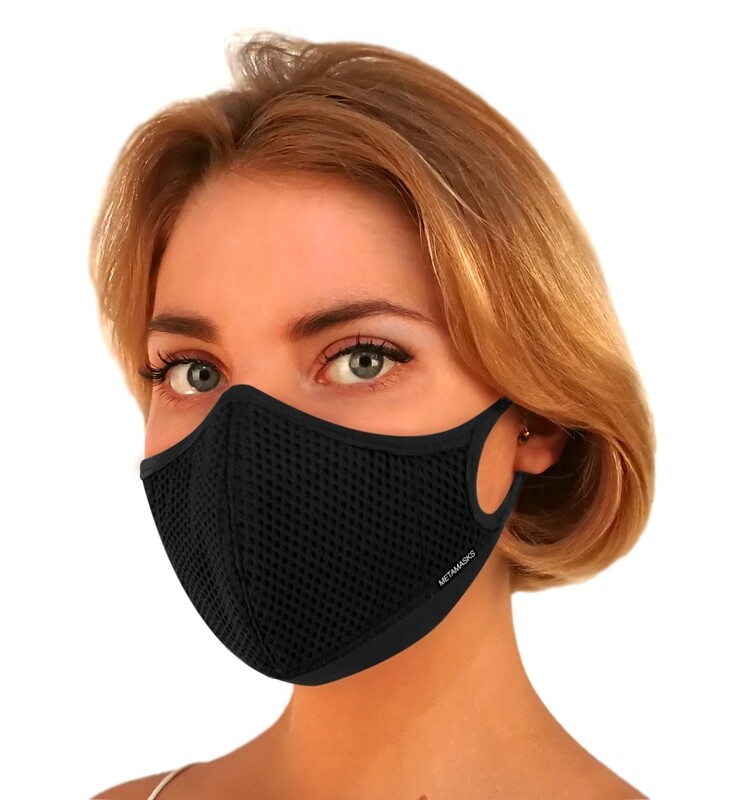 Aria Face Mask Black Non-Replaceable Filter