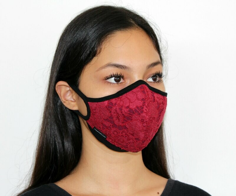 Kebaya Bali Lace Face Mask Non-Replaceable Filter (3 colors to choose from)