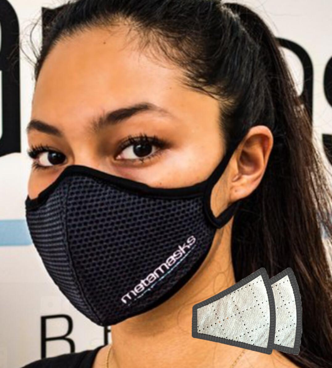 Metamasks Embroidered Logo Face mask Replaceable Filter
