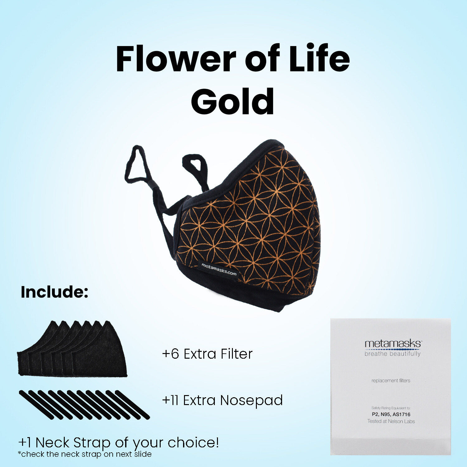 Flower of Life Full Package Face Mask with Replaceable Filter