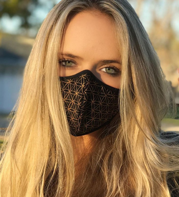 Flower of Life Face Mask Non-Replaceable Filter