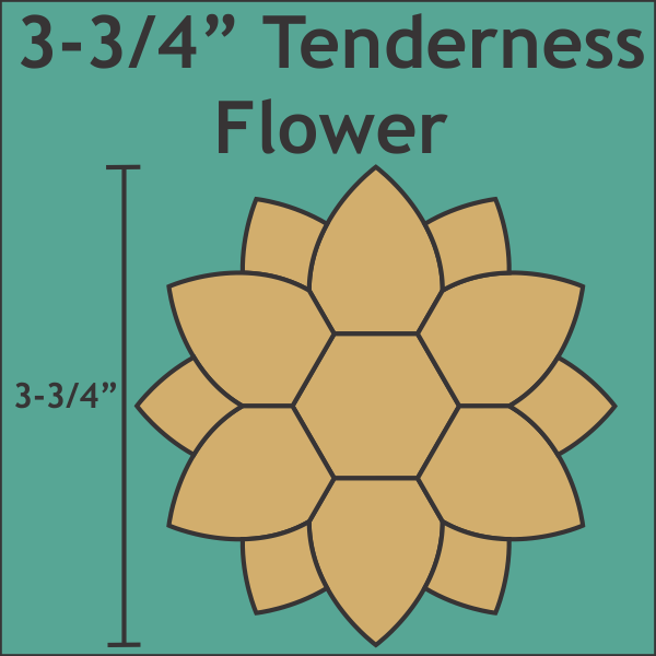 Tenderness Flower 12 stk 3-3/4 Inch