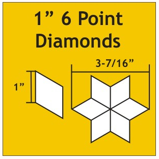 Diamonds 1 inch 6 tagger 75 stk