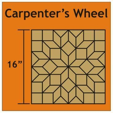 Carpenter's Wheel Block 16 inch 1 blokk