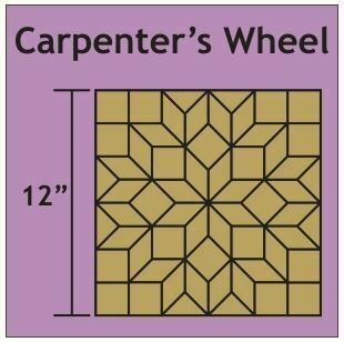 Carpenter's Wheel 12 inch 1 blokk