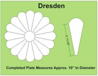 Dresden 10 inch 16 Petal/blader 1 stk