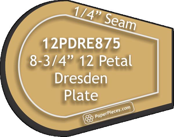 """Akryl skjæremal Dresden Petal 8-3/4"""""""