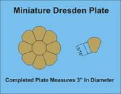 Miniature Dresden Plate 18 Blomster