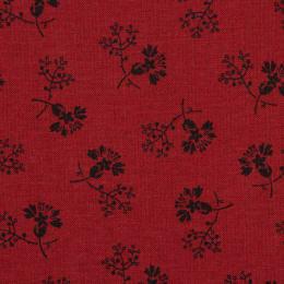 Floral Gatherings Rød med sorte tegninger SALG!