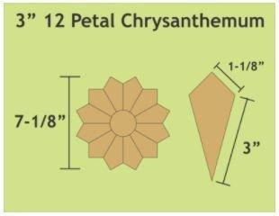 "Chrysathemum 3""  18 stk Blokker"