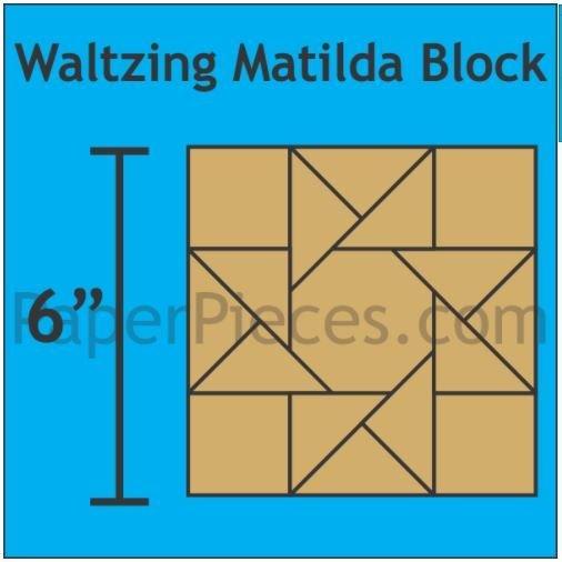 "Waltzing Mathilda 6"" Block 4 stk"