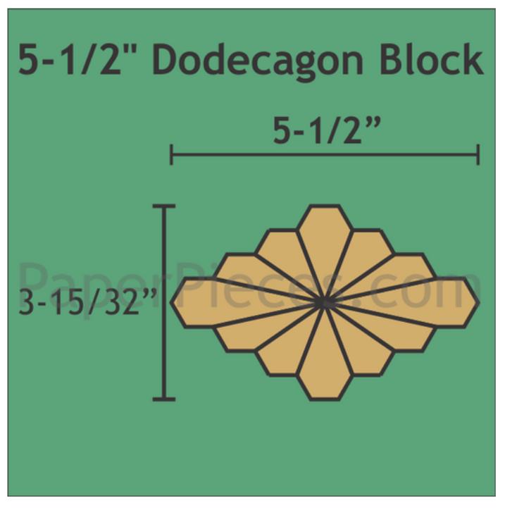 "Dodecagon 5 1/2"" 12 stk blader 12 stk blomster"