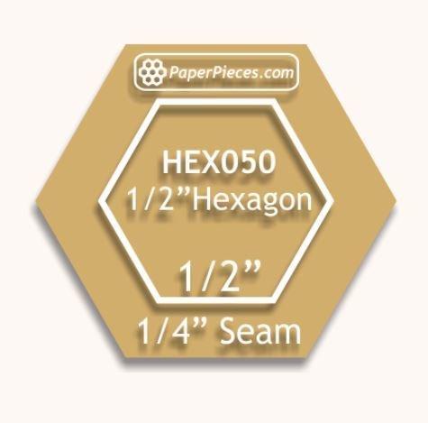 Akryk skjæremal Hexagon 1/2 inch