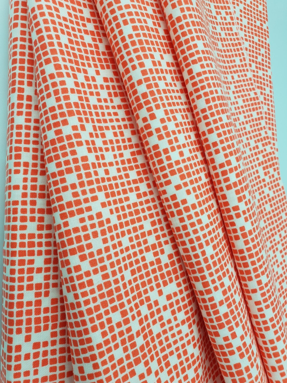 Lazy Days Orange med lyse firkanter