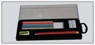 Skredderkritt flerfarget m/blyantspisser