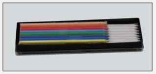 Skredderkritt refil flerfarget og hvit