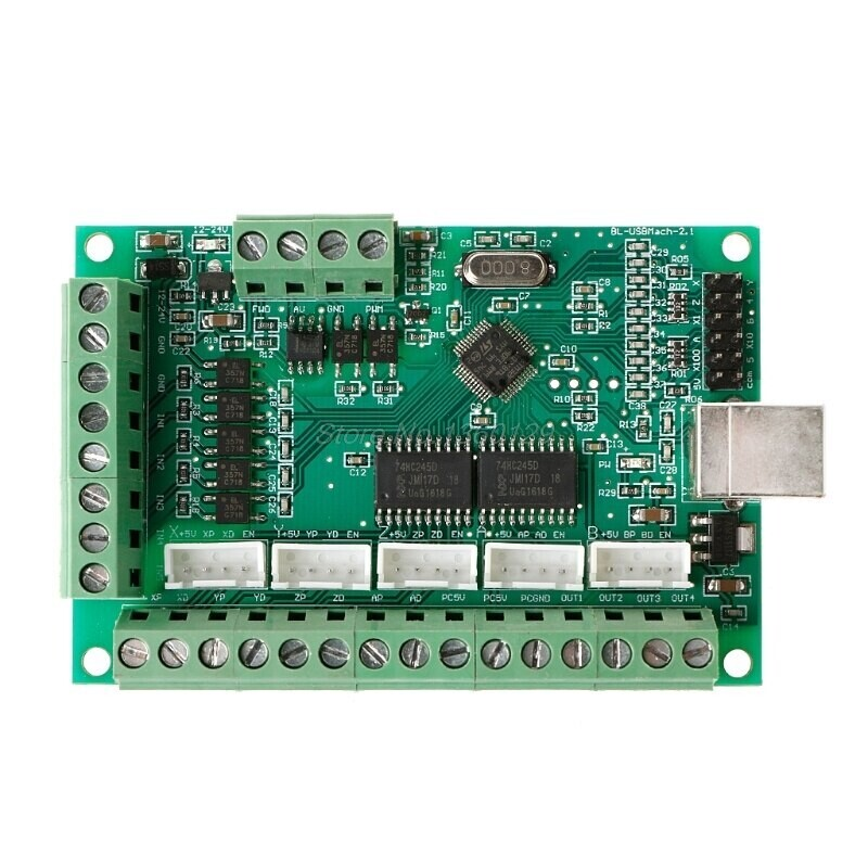 Контроллер Mach3 100кГц 5-осевой Breakout для шаговых двигателей (контролер N1HF),+кабель