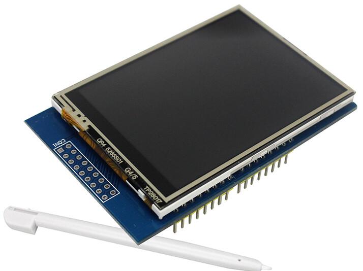 Дисплей 2.8 дюймов  TFT Touch LCD сенсорный для Arduino Uno,встроенный Micro SD слот