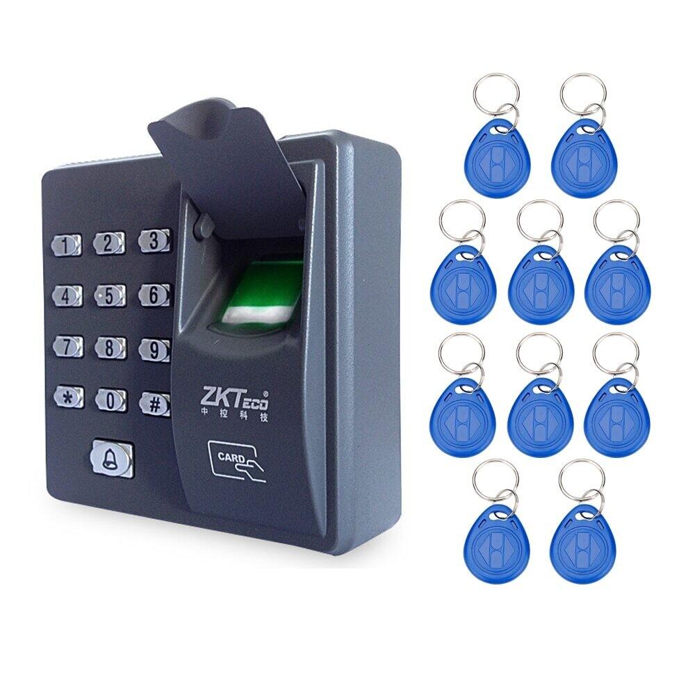 Цифровой RFID считыватель, биометрическое распознавание отпечатков пальцев  + 10 шт брелоков