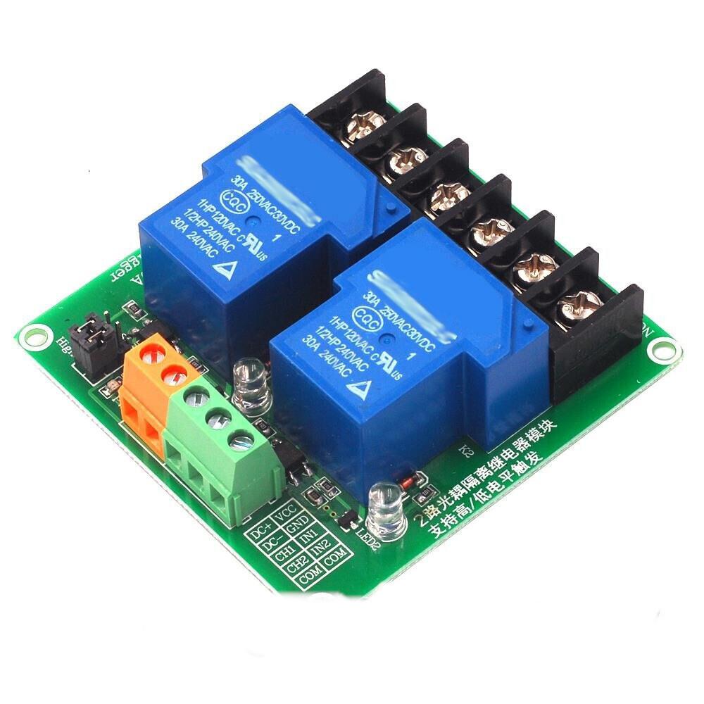 Модуль 2-канальный 12V 30A релейный