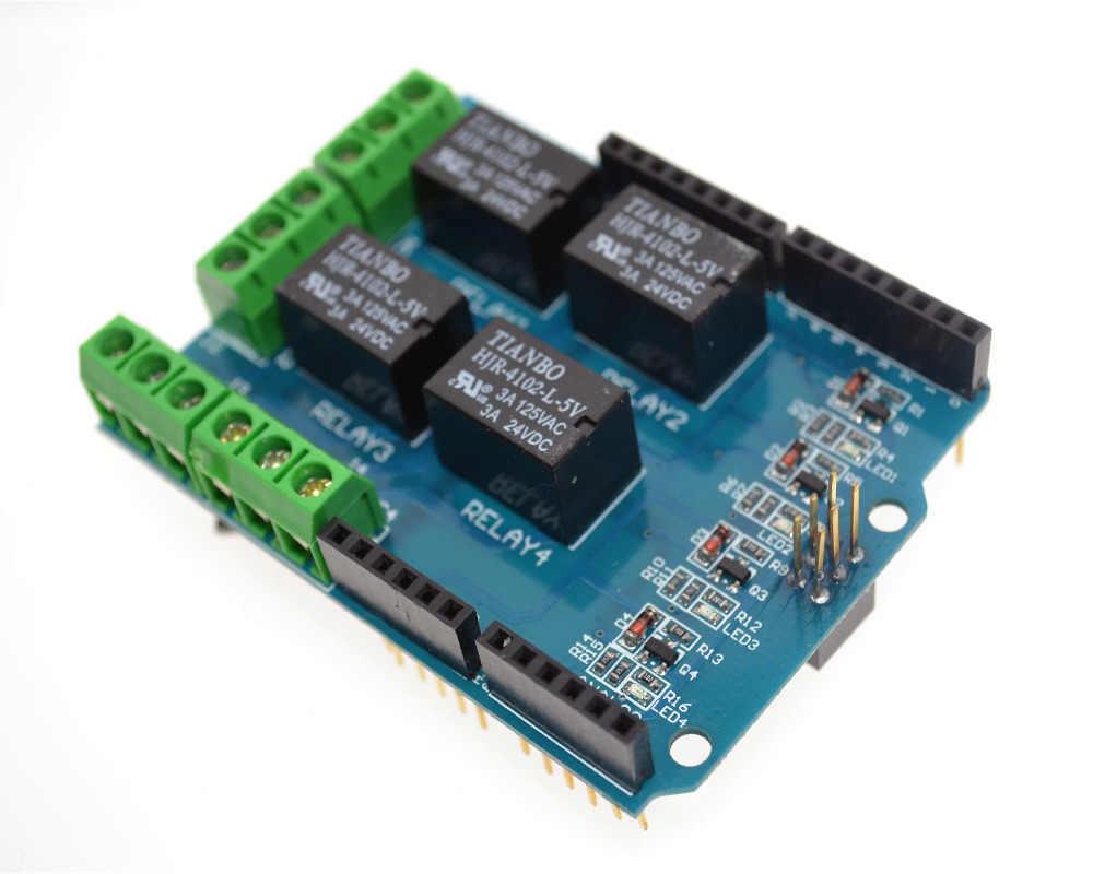 Реле Модуль 5В, 4 канала, плата расширения для Arduino UNO R3 MEGA 2560