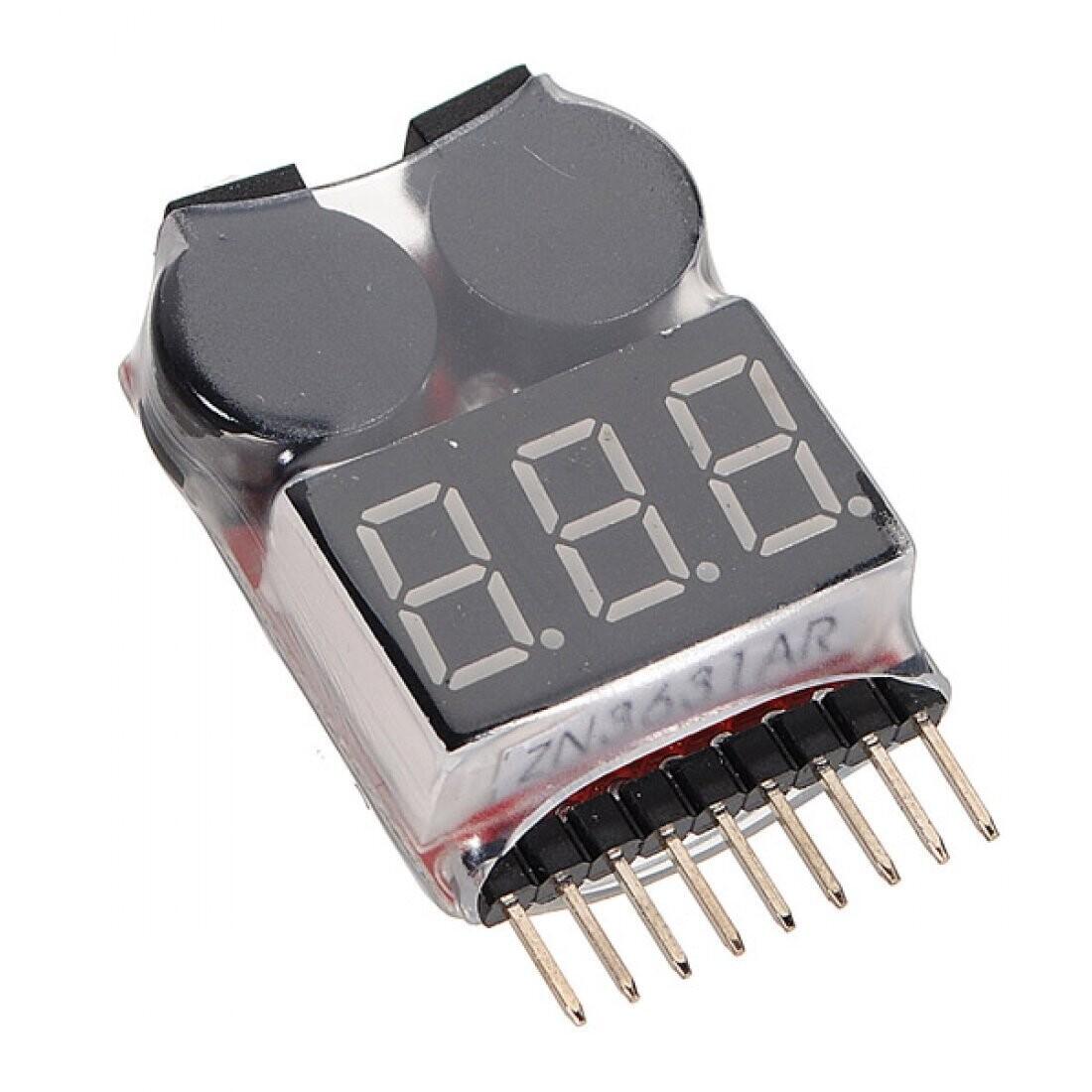 Тестер Lipo низкого напряжения батареи с звуковым сигналом