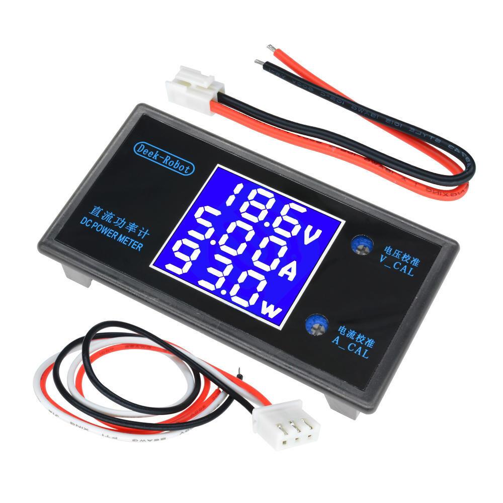 ЖК-дисплей цифровой вольтметр, амперметр, детектор напряжения, 0-100 в, 10 А,1000Вт