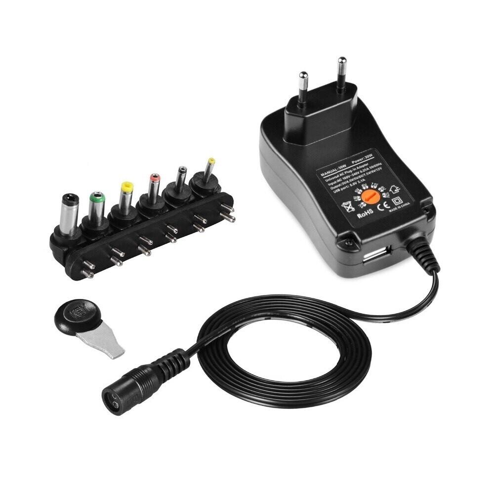 Универсальный регулируемый 220В адаптер питания 12В 3В 4,5В 5В 6В 7,5В 9В 2А 2,5А