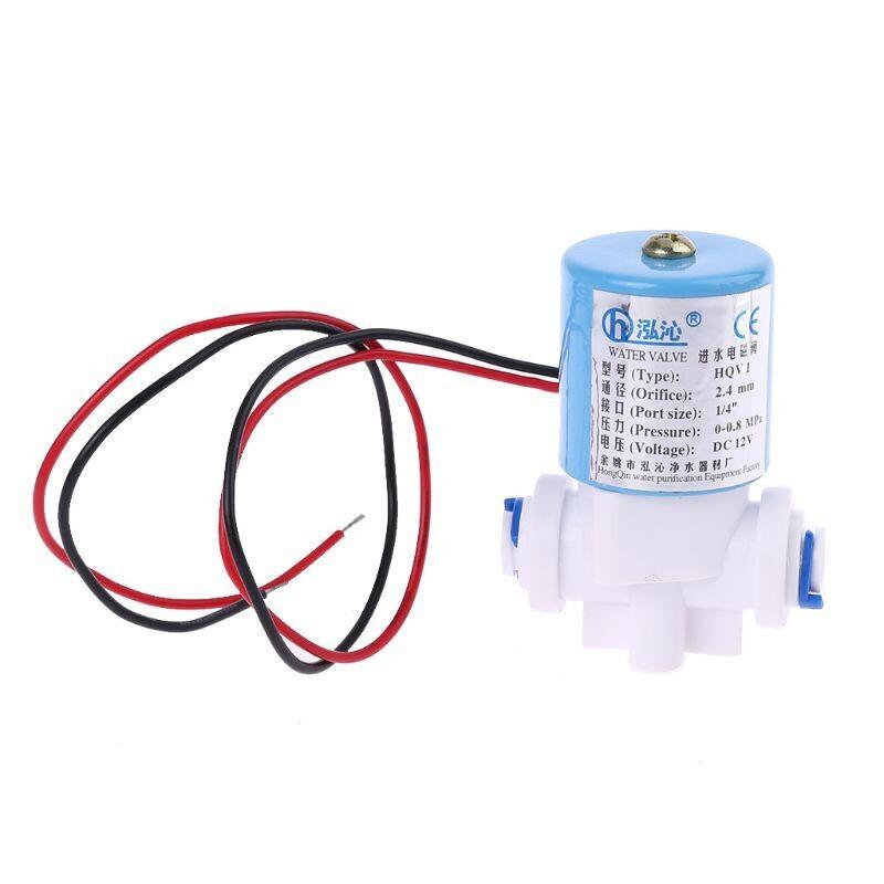 """G1/4 """"электромагнитный клапан пластиковый нормально закрытый 12 В , 0-120PSI 0-0.8MPa"""