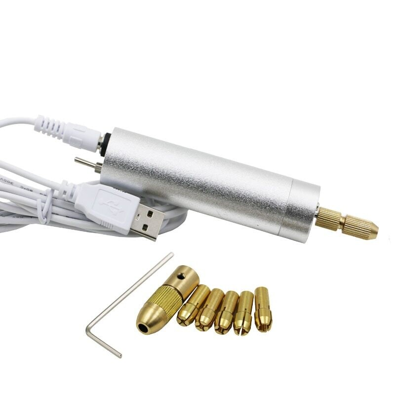 DIY ESB Электрическая ручная мини дрель 5V +6шт аксессуаров