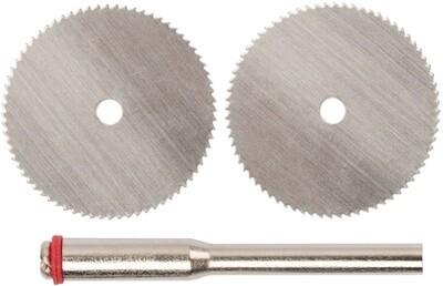 Режущий диск для дерева 25мм, набор 10 шт дисков + 2шт держателя