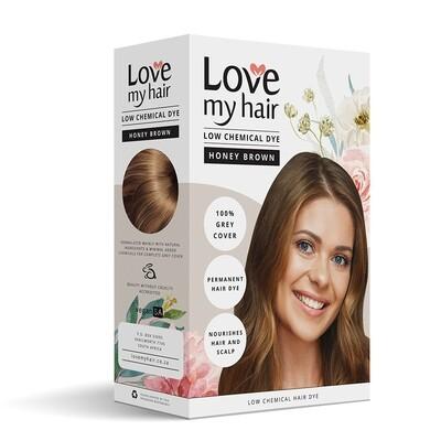 LOW CHEMICAL HAIR DYE - HONEY BROWN