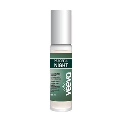 Aromatherapy Roll-On, enhanced with flower essences - Peaceful NIGHT (formerly called Sleep) 9.5 ml