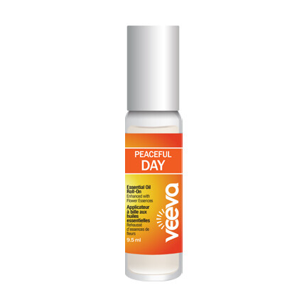 Essential Oil Roll-On, enhanced with flower essences - Peaceful DAY 9.5 ml