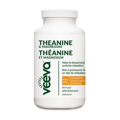 Theanine & Magnesium with NeuroSupport B Vitamins (60 or 120 Vcaps)