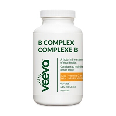 B Complex with Alkaline C (60 or 120 Vcaps)