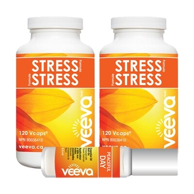 NEW! Stress Formula 120 Vcaps X 2 with BONUS Roll-On