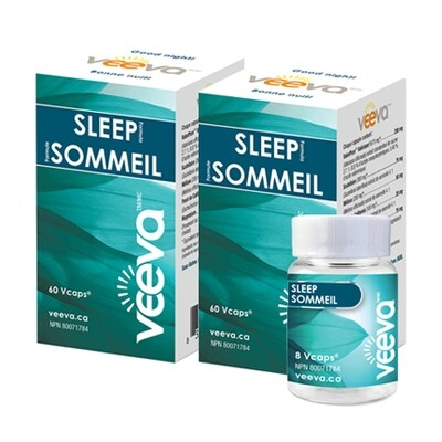 NEW! Sleep Formula 60 Vcaps X 2 with BONUS 8 Vcaps