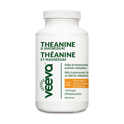 NEW Theanine & Magnesium with NeuroSupport B Vitamins 120 Vcaps