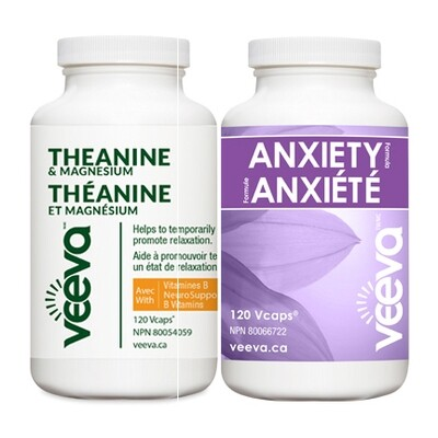 BEST VALUE | Anxiety Formula 120s and Theanine & Magnesium 120s