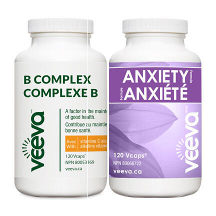 BEST VALUE   Anxiety Formula 120s and B Complex 120s