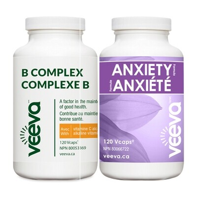BEST VALUE | Anxiety Formula 120s and B Complex 120s