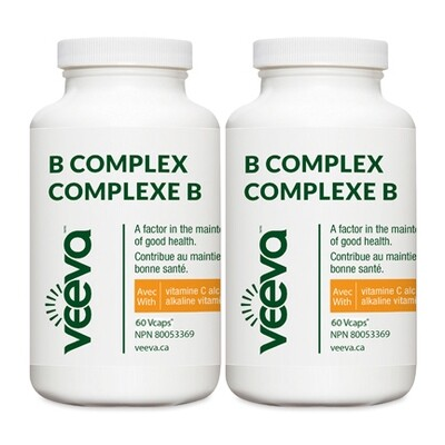 B Complex with Alkaline C 60 Vcaps DUO PACK