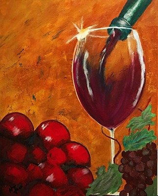 Wine Time 16x20 canvas. Framed