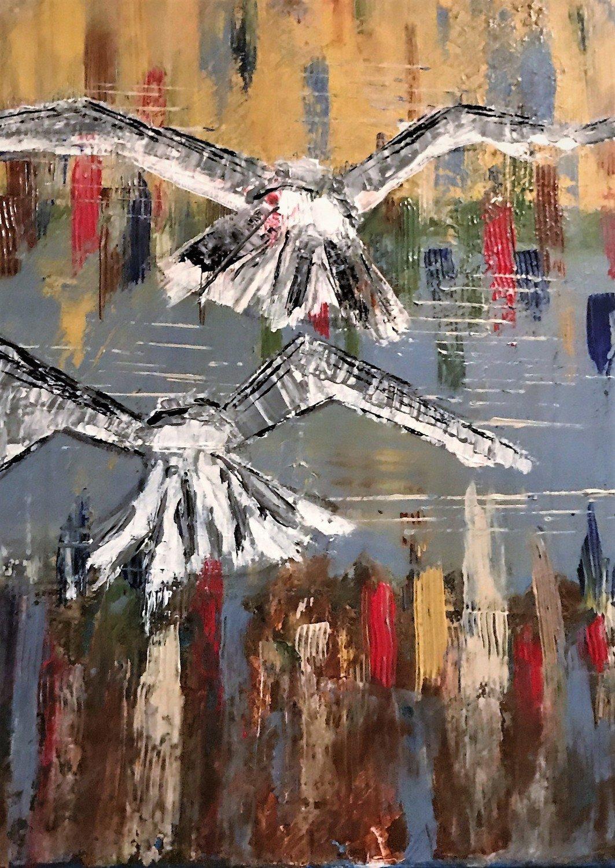 Free Flight 16x20 canvas, Framed