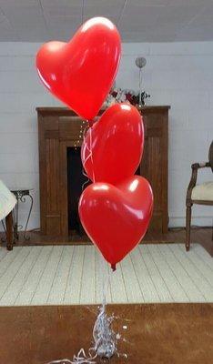 3 heart bouquet