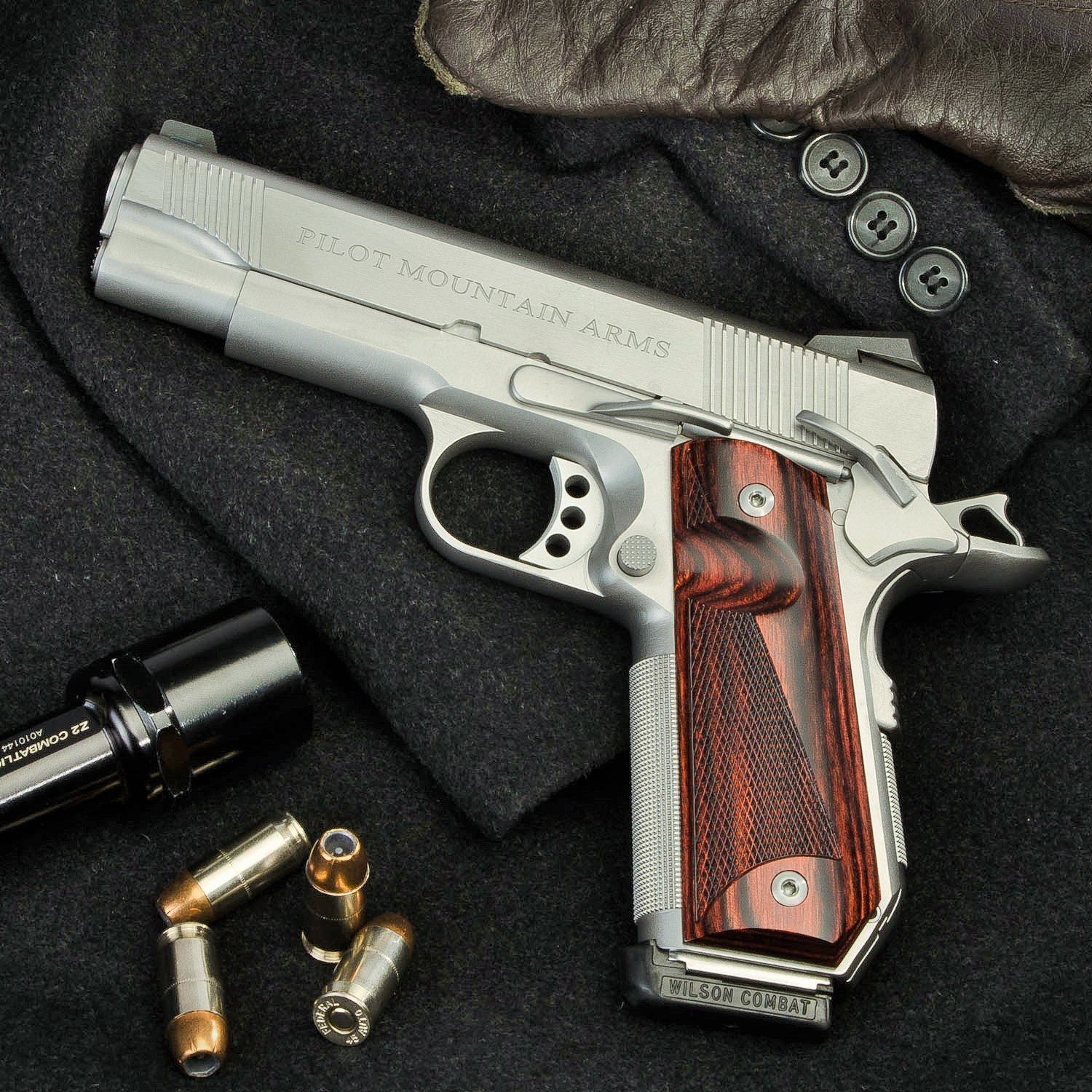 "Pilot Mountain Arms EDC Model 4.25"", .45cal 1911 Pistol"